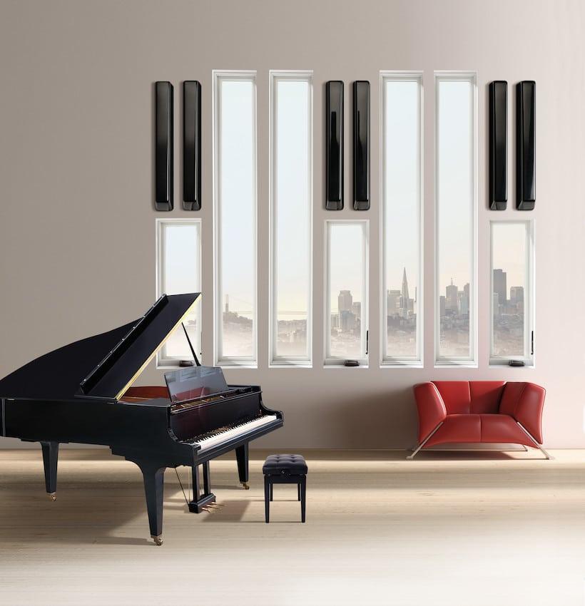 חלונות מעוצבים במגוון צבעים ועיצובים של חברת Andersen