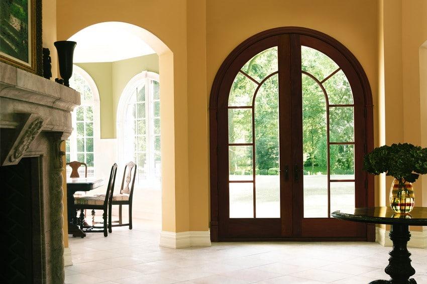 דלתות כניסה מעץ של חברת אנדרסן המומחים בייצור והתקנה של חלונות מעוצבים ודלתות כניסה מעוצבות
