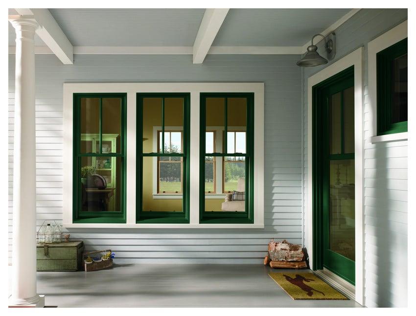 חלונות בלגיים ירוקים לסביבה של חברת Andersen