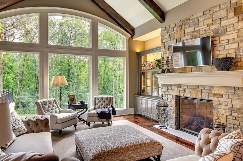 חלונות עץ מסדרה 400 של חברת אנדרסן חלונות לבית ודלתות כניסה מעוצבות