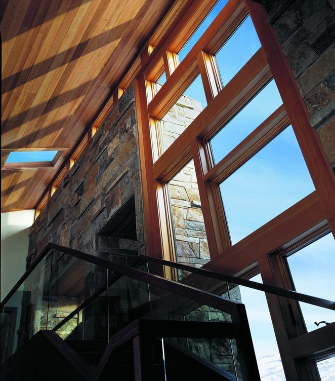 חלונות עץ עם חיפוי חיצוני של חברת אנדרסן המומחים בייצור והתקנה של חלונות מעוצבים ודלתות כניסה מעוצבות